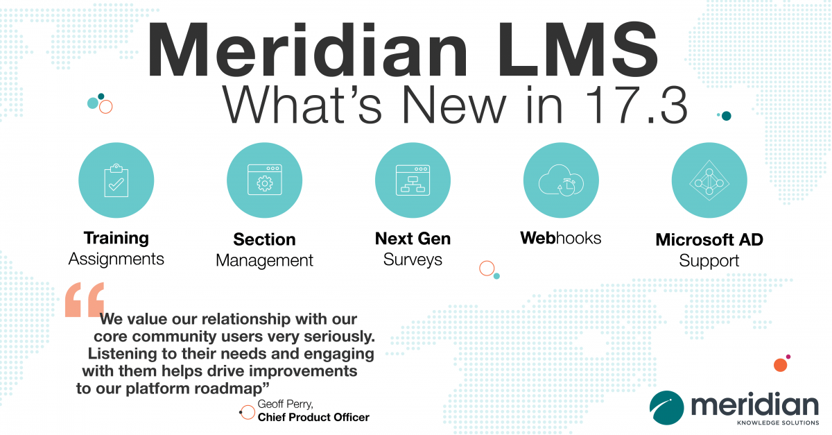 Meridian LMS 17.3 Release