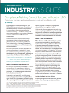Compliance training cannot succeed without an LMS