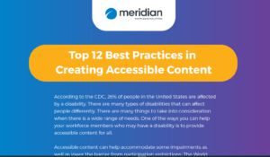 Meridian LMS Accessibility-infographic