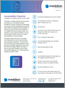Accessibility in elearning